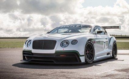 Спорткар Bentley ждет зеленого